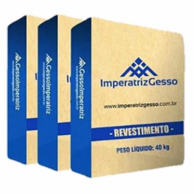Gesso Revestimento -É um gesso de secagem lenta que permite um perfeito acabamento e é utilizado para revestimento de paredes, tetos, forros e demais superfícies de alvenaria.